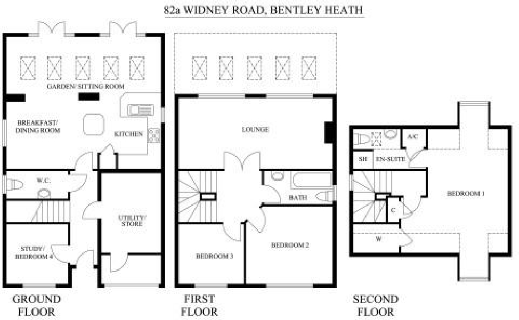4 bedroom semi detached house Application Made in Solihull - floorplan 1.