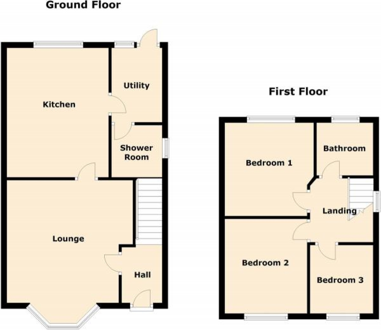 3 bedroom semi detached house Application Made in Solihull - floorplan 1.