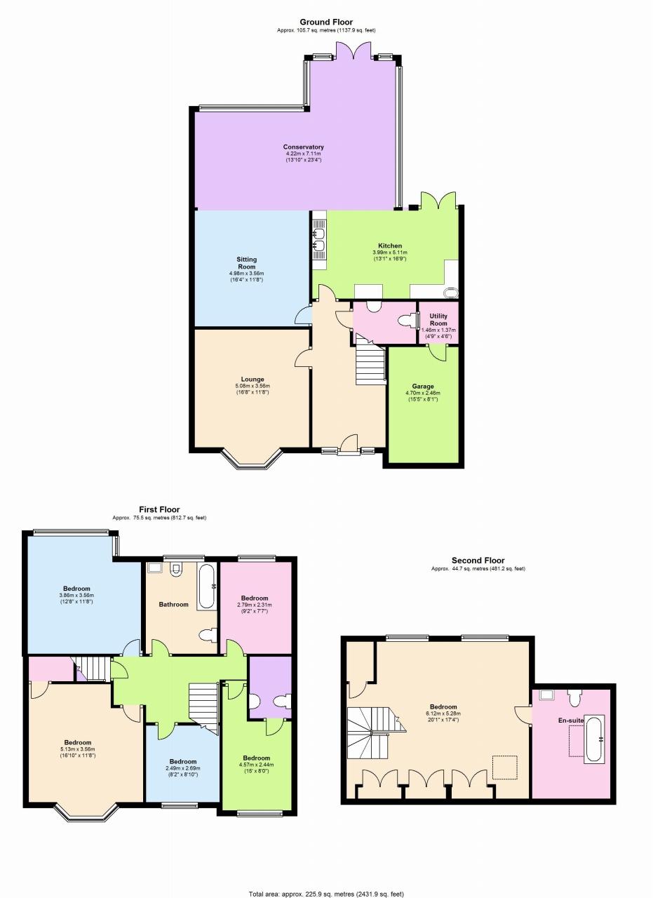 6 bedroom semi detached house SSTC in Solihull - floorplan 1.