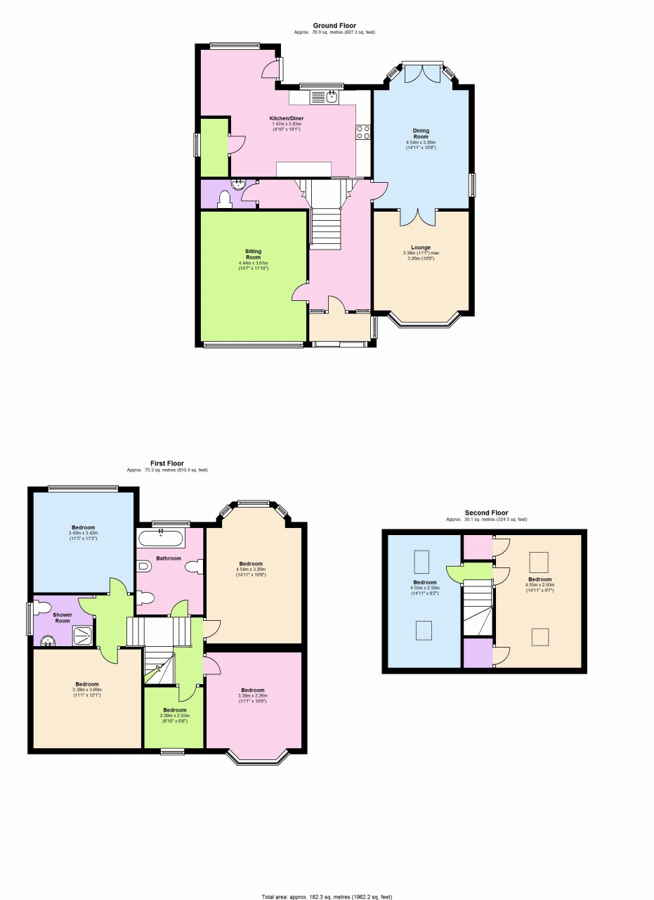 6 bedroom detached house Application Made in Solihull - floorplan 1.