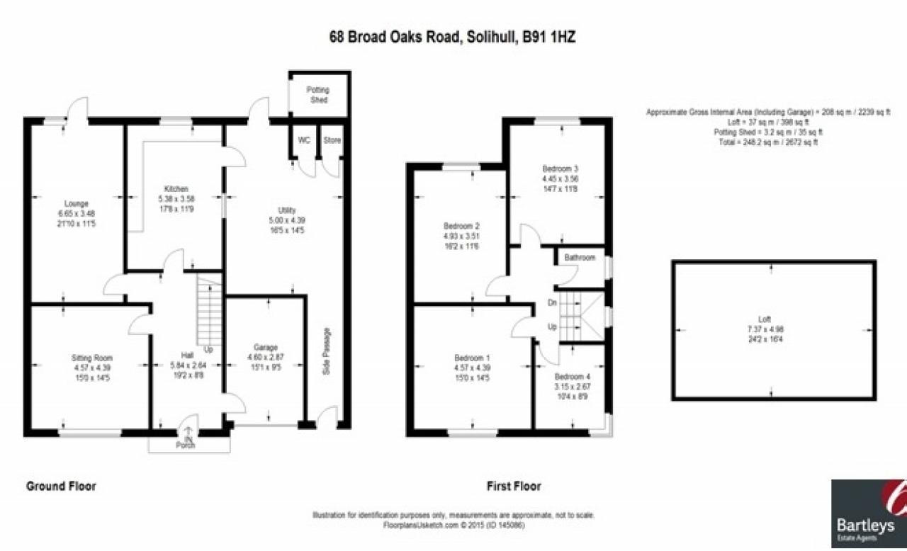 4 bedroom semi detached house SSTC in Solihull - floorplan 1.