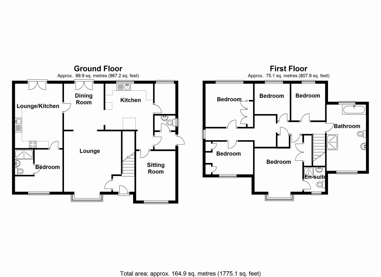 5 bedroom detached house SSTC in Solihull - floorplan 1.