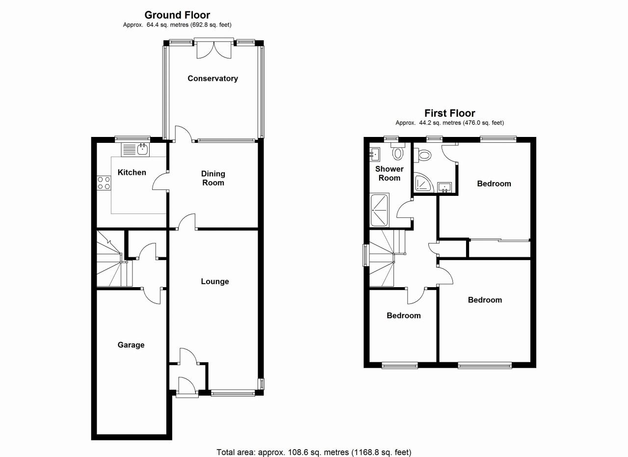 3 bedroom detached house SSTC in Solihull - floorplan 1.