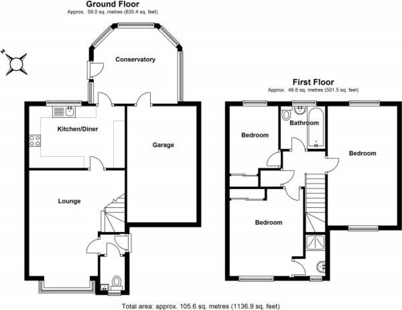 3 bedroom mid terraced house Application Made in Solihull - floorplan 1.