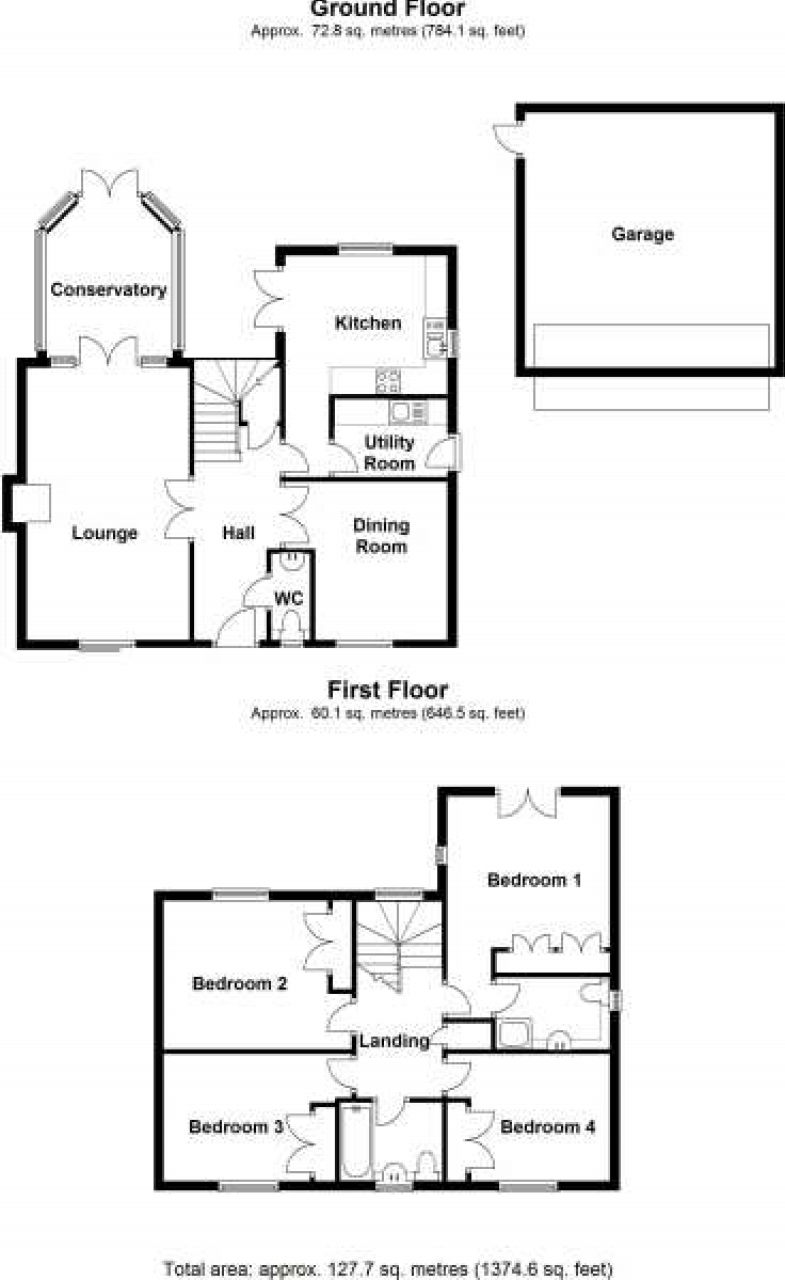 4 bedroom detached house Application Made in Solihull - floorplan 1.