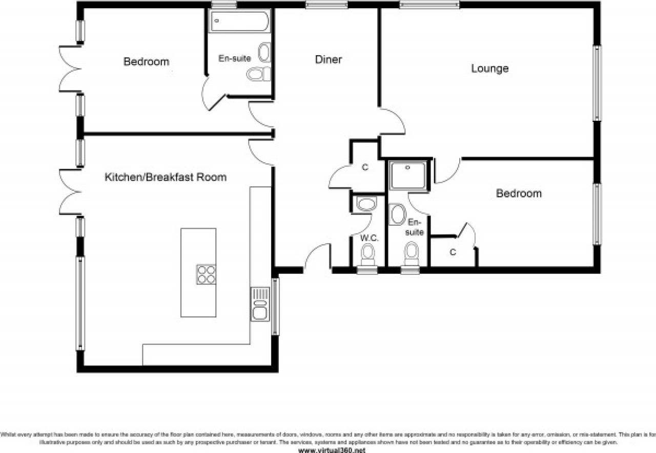 2 bedroom detached bungalow SSTC in Solihull - floorplan 1.