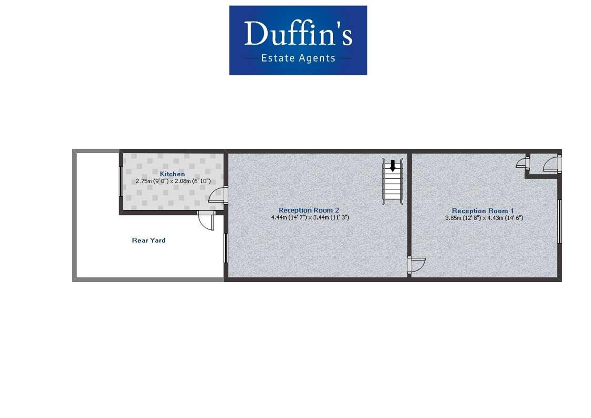 2 Bedroom Terraced House To Rent - Floor Plans