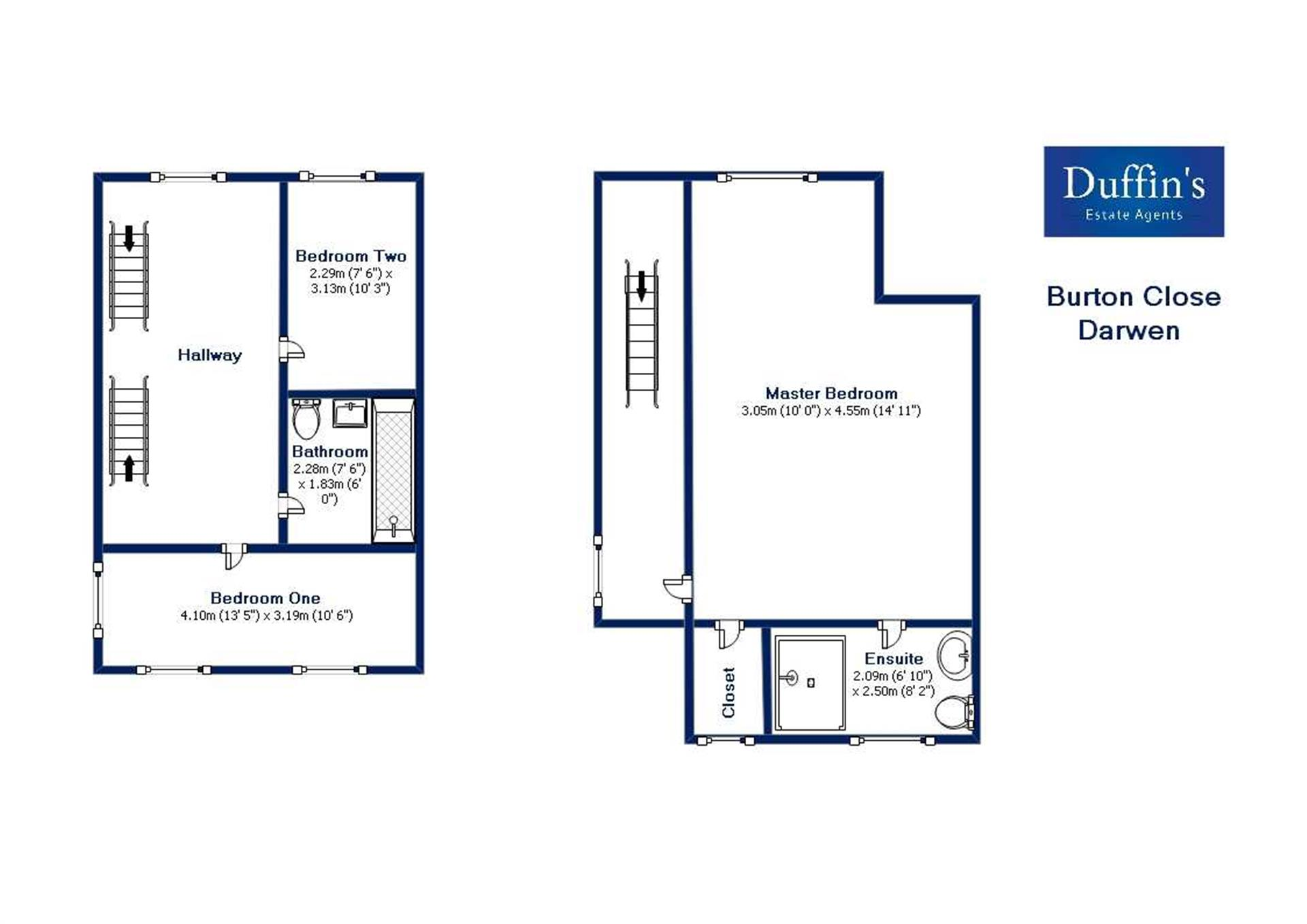 3 Bedroom House For Sale - Floor Plans