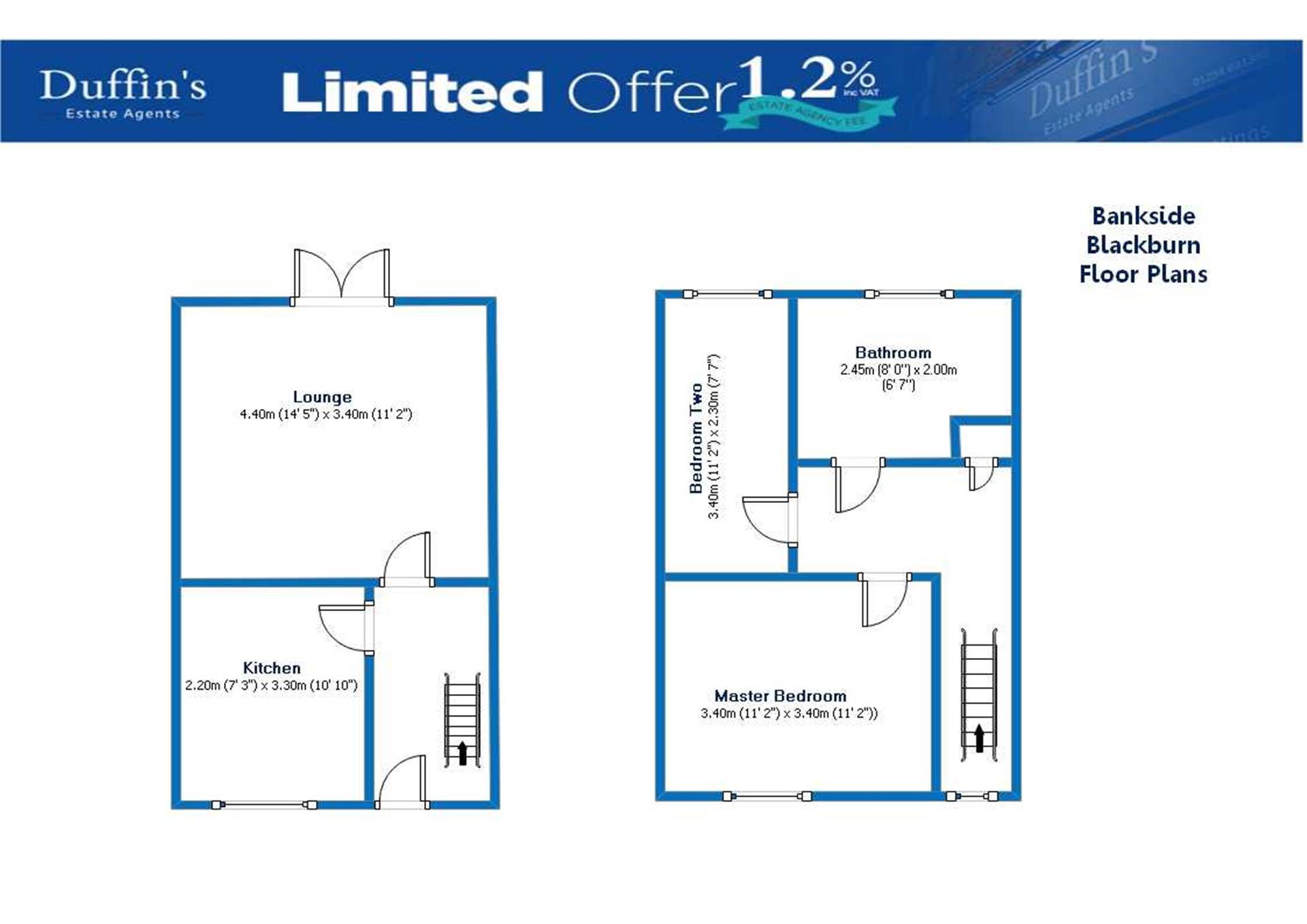 2 Bedroom House For Sale - Floorplans