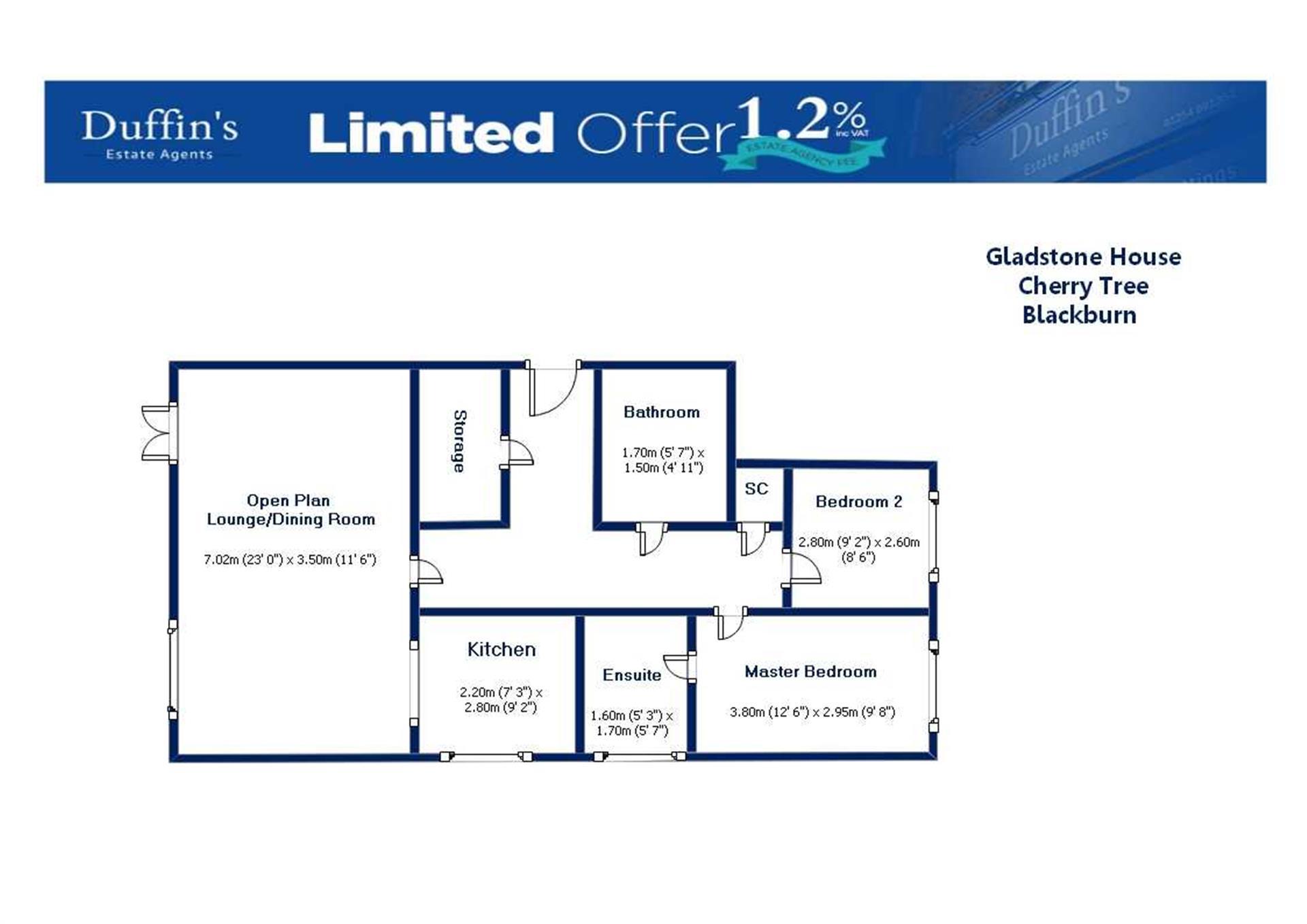 2 Bedroom Apartment Flat / Apartment For Sale - Floor Plans