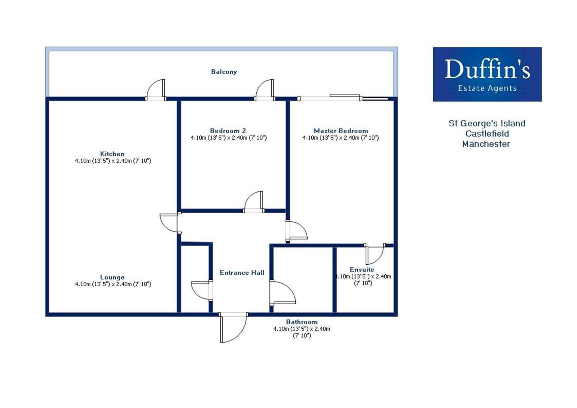 2 Bedroom Apartment Flat / Apartment For Sale - Floorplans