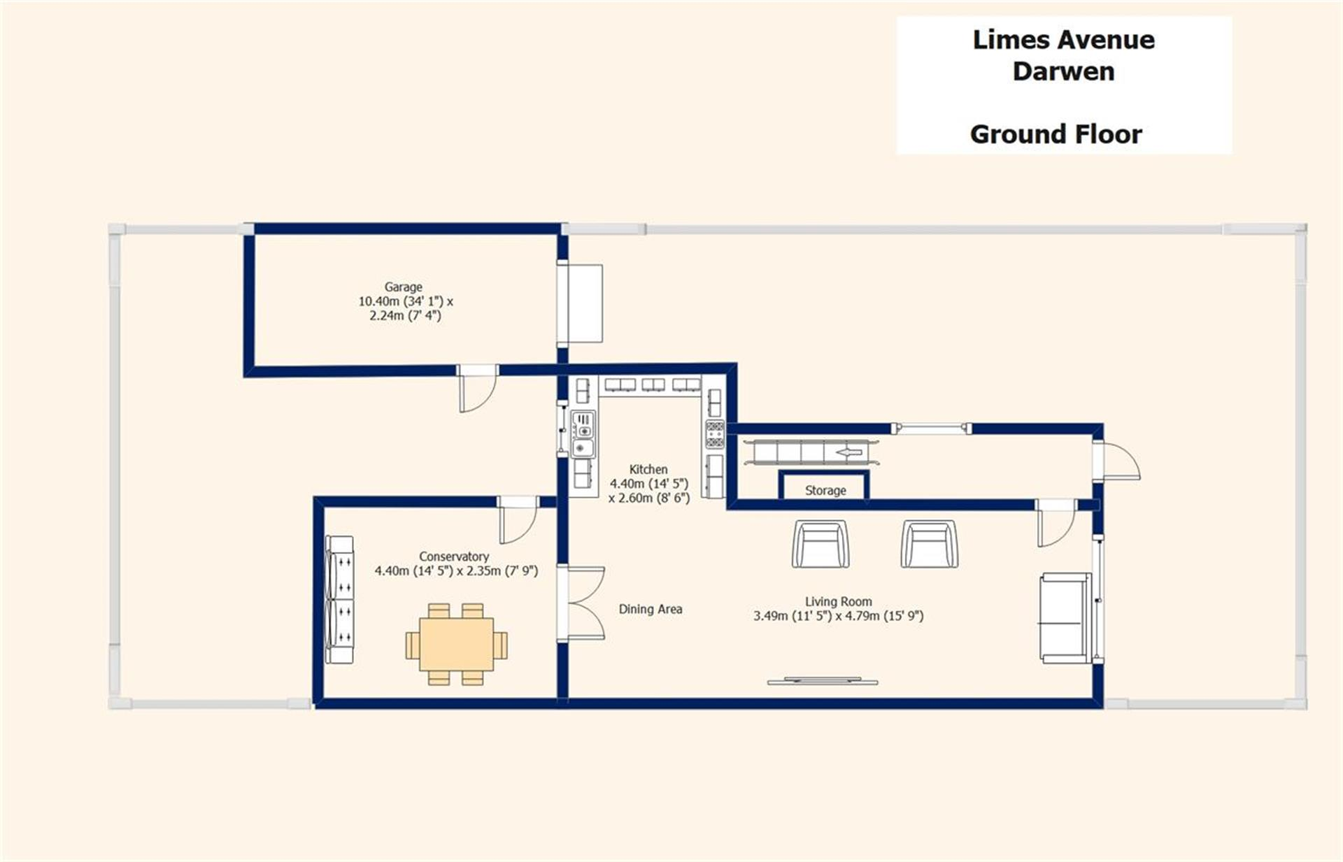 3 Bedroom Semi-detached House For Sale - Floor Plans