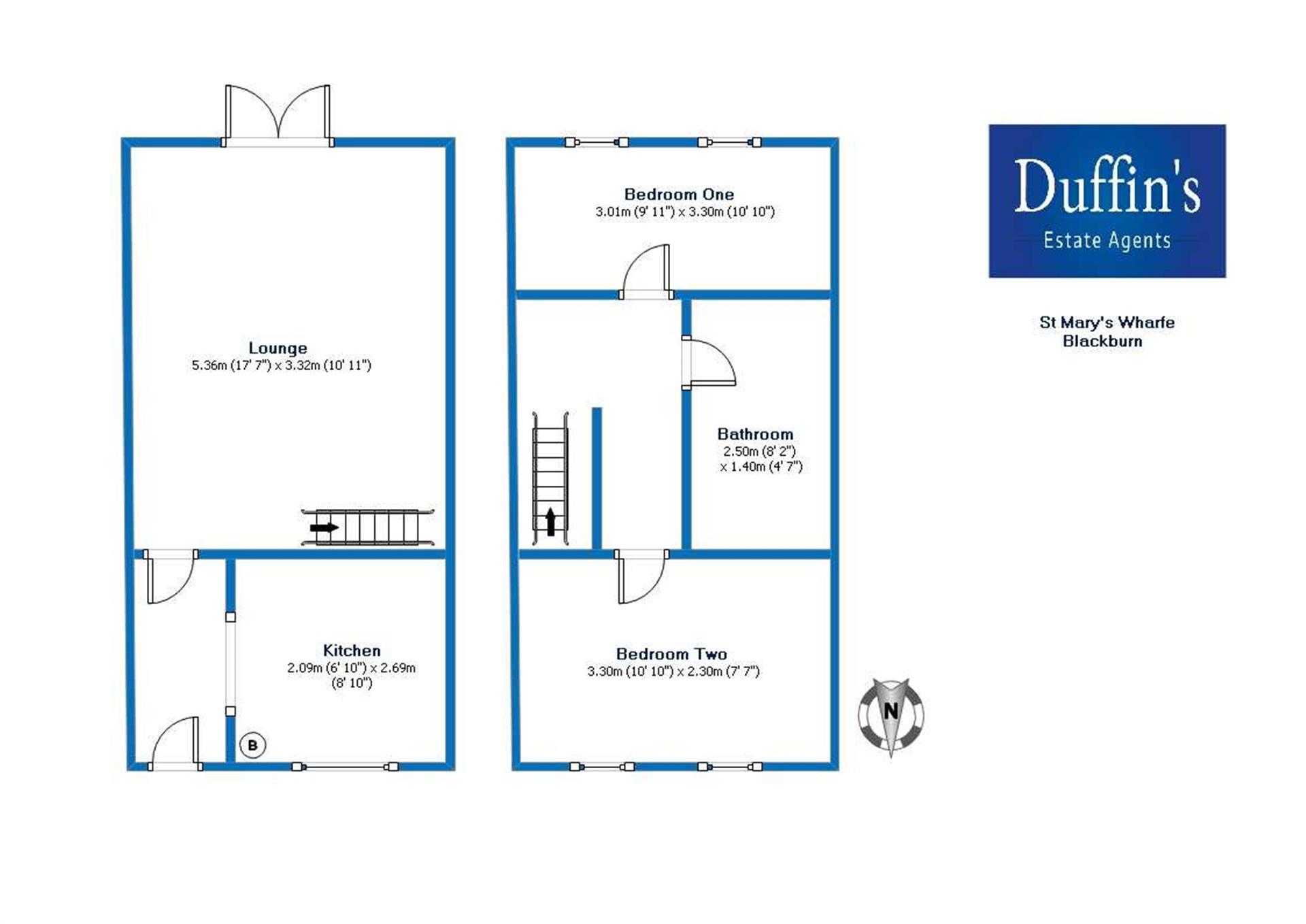 2 Bedroom Mews House For Sale - Floor Plans