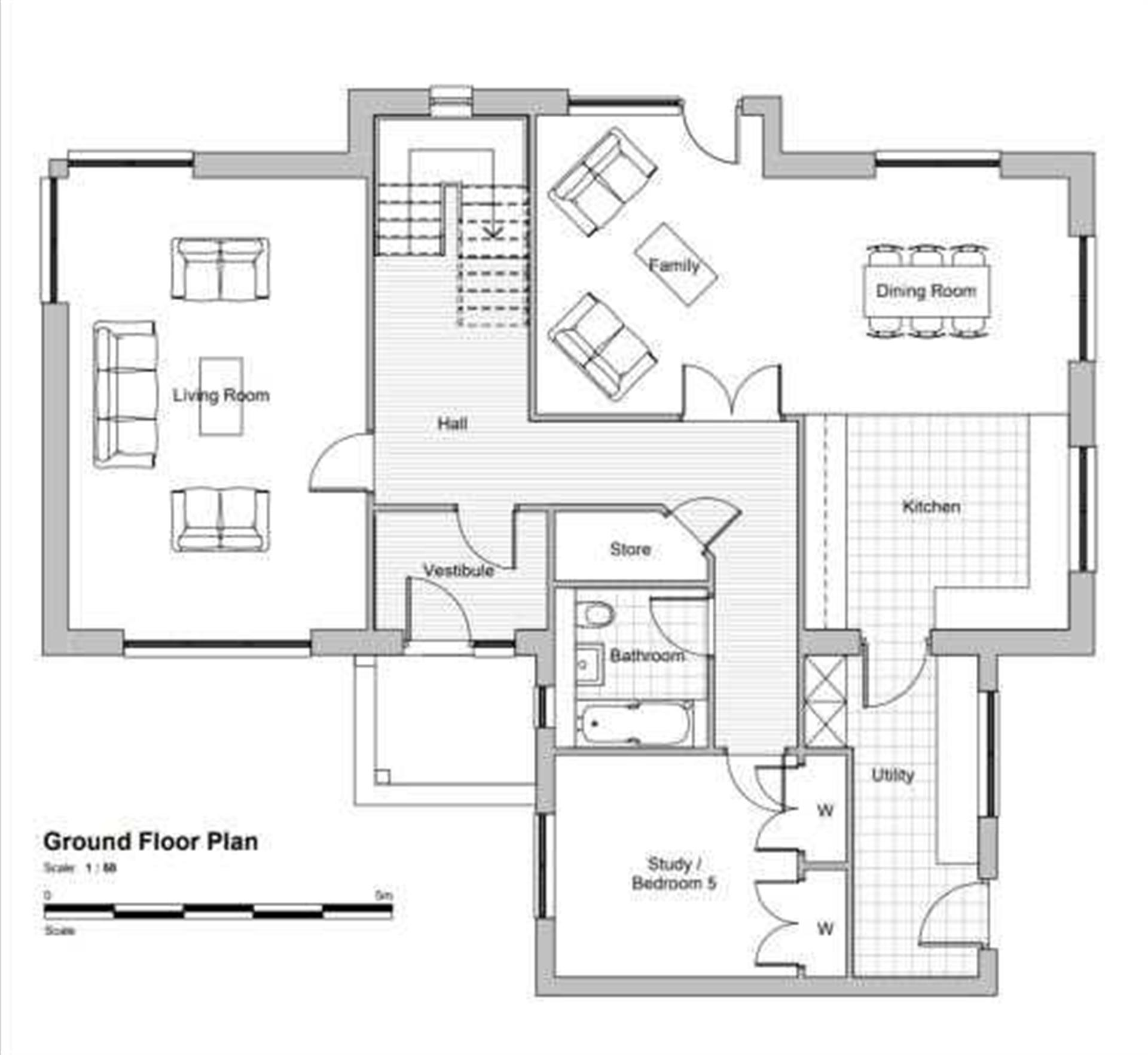 5 Bedroom Detached House For Sale - Ground Floor Plan