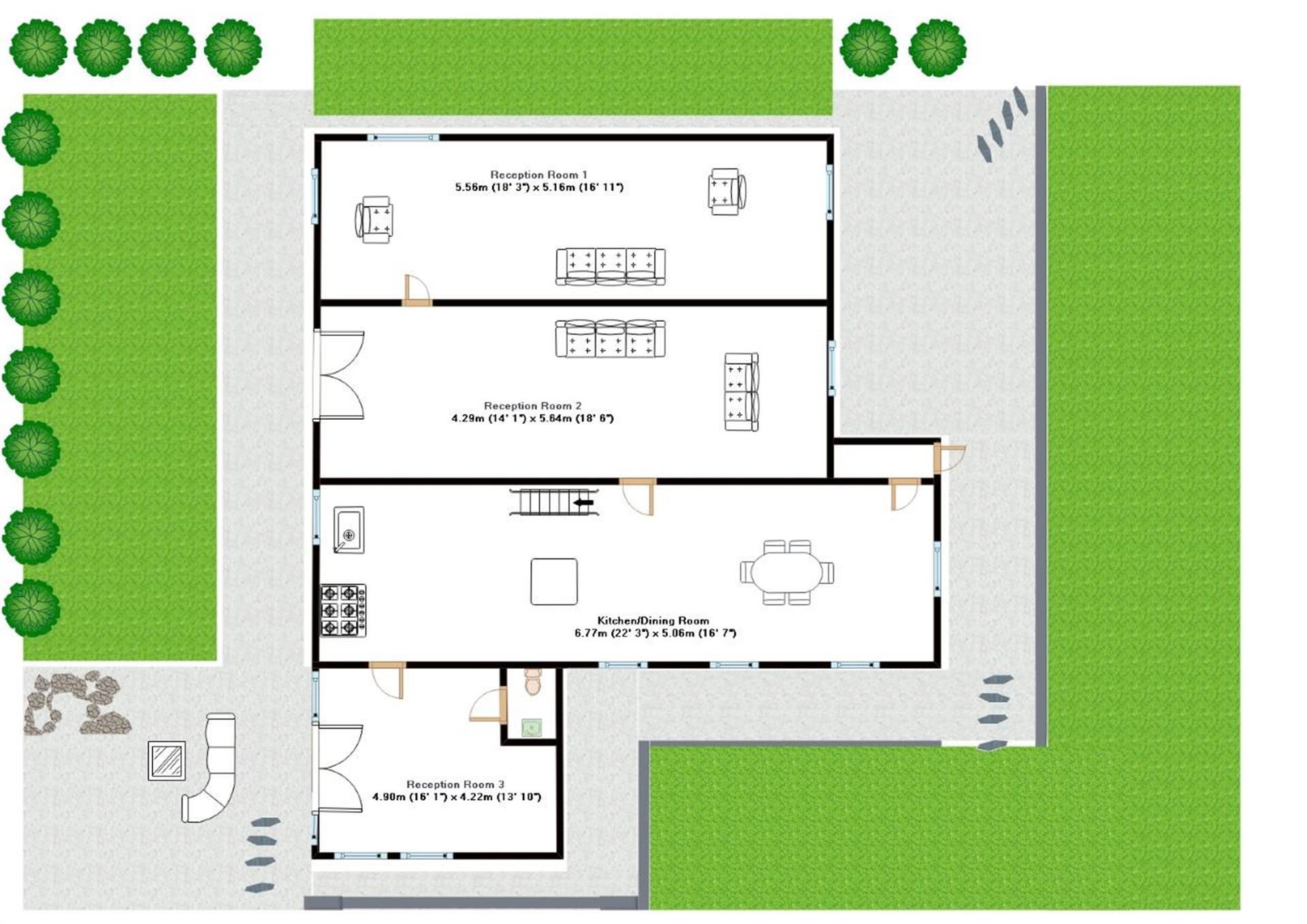 4 Bedroom Detached House For Sale - Groundfloor Plan