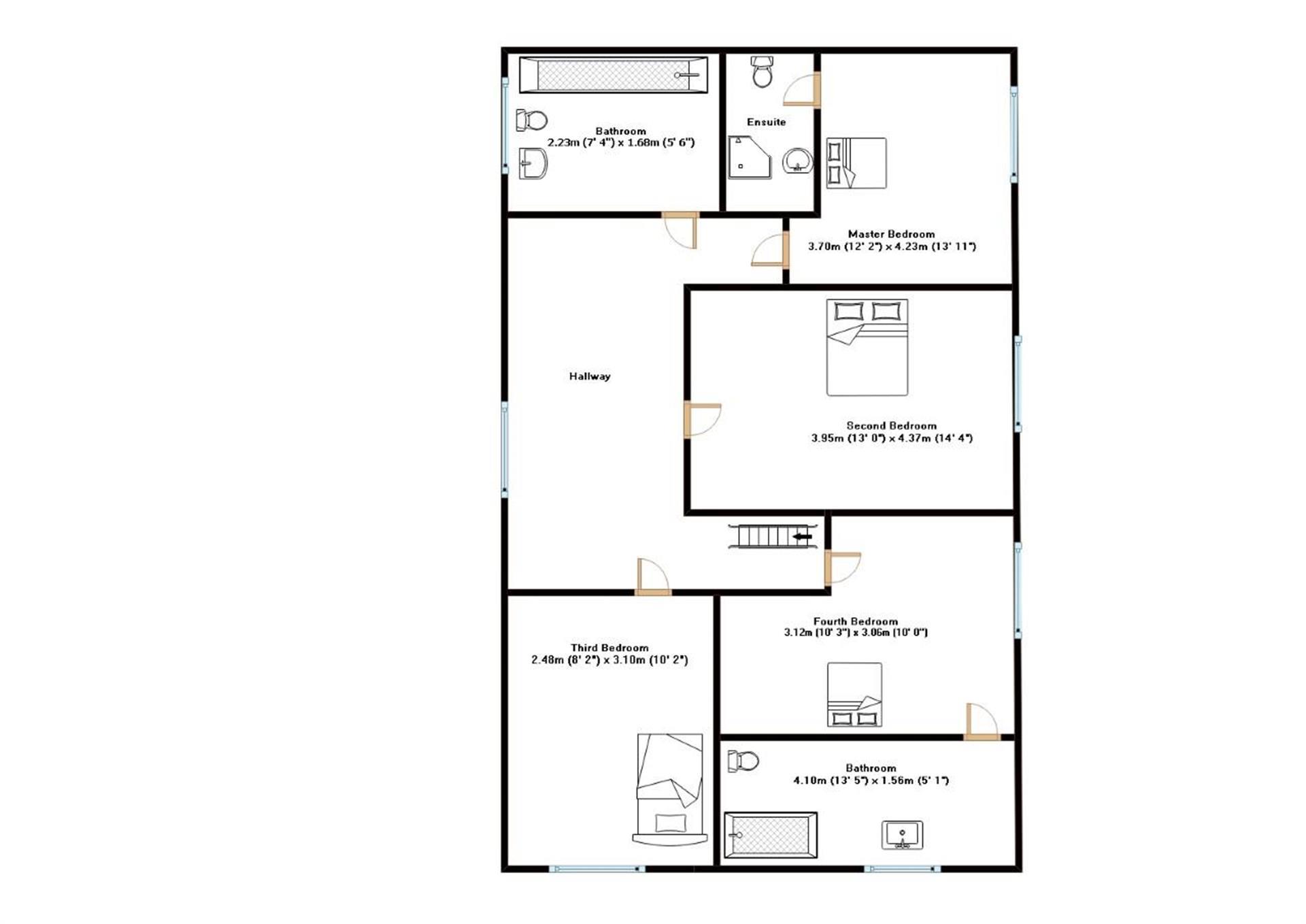 4 Bedroom Detached House For Sale - Firstfloor Plan